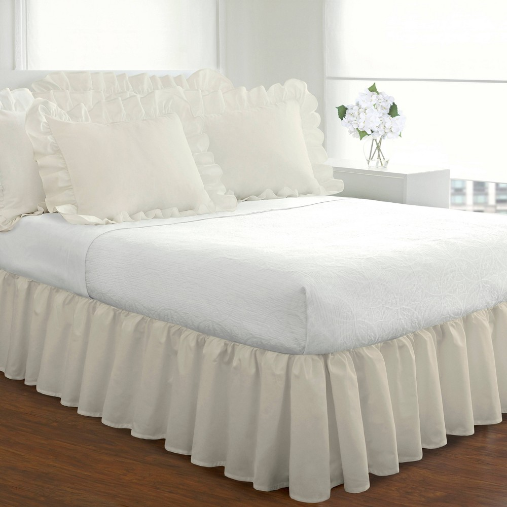 Ruffled 14 Bed Skirt Ivory Queen