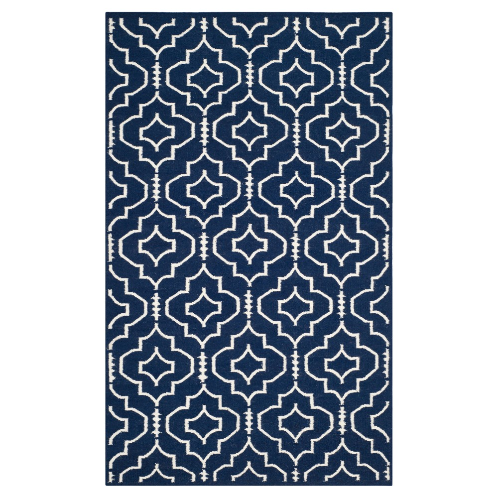 Compare Dhurries Rug - Navy Ivory - (4x6) - Safavieh