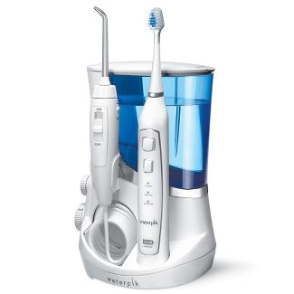 Waterpik Complete Care 5.0 Sonic Electric Toothbrush + Water Flosser- White