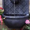 "26"" Messina Outdoor Wall Water Fountain with Electric Submersible Pump - Lead - Sunnydaze Decor - image 4 of 4"