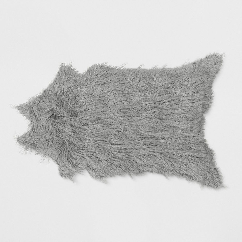 Mongolian Faux Fur Rug Gray - Project 62 was $49.99 now $24.99 (50.0% off)