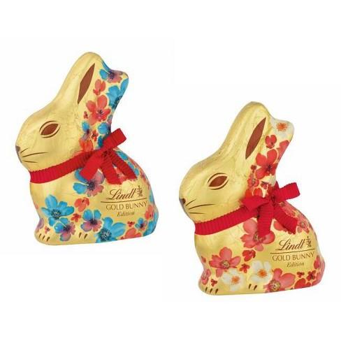 Lindt Floral Easter Gold Bunny - 3.5oz - image 1 of 3