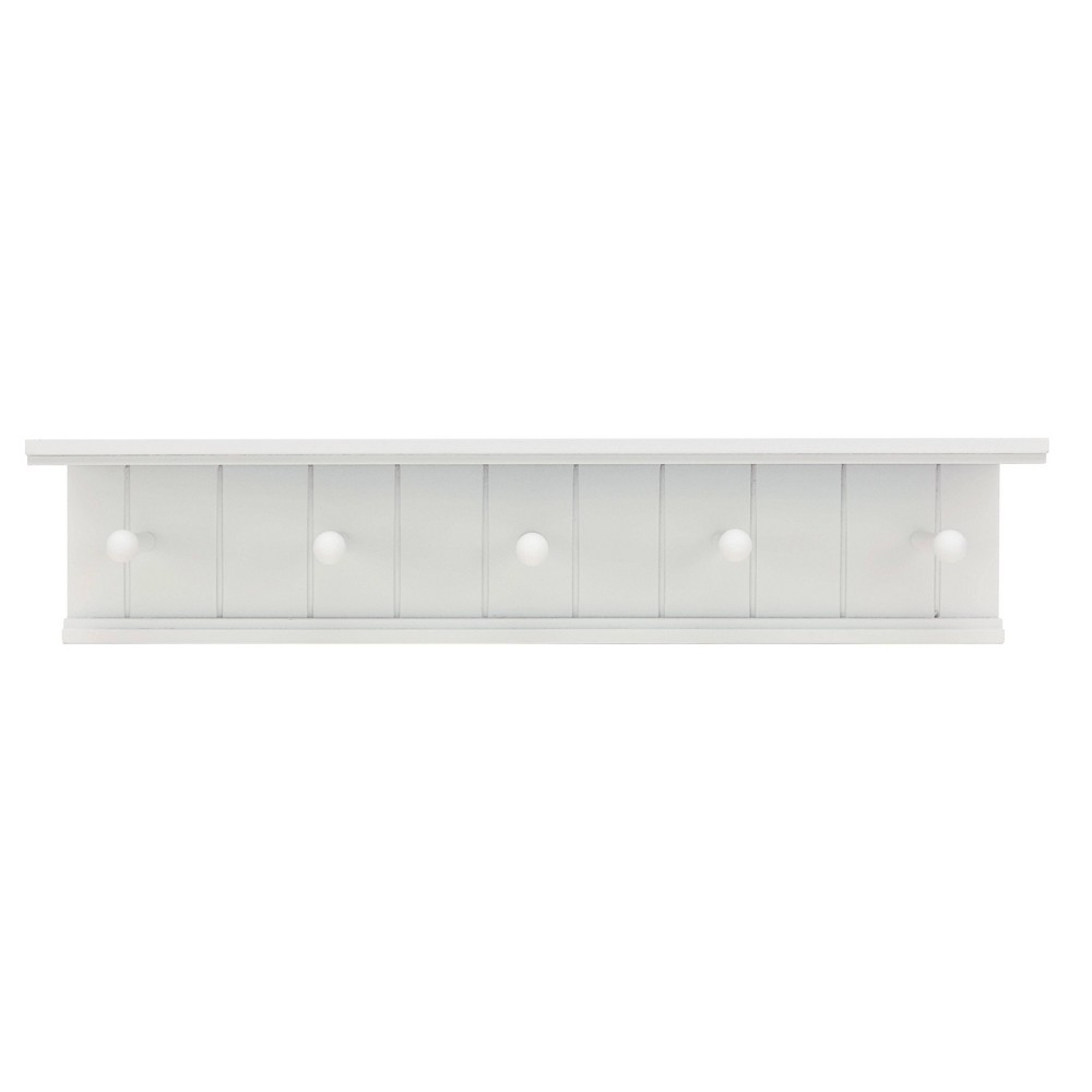 Image of Kian Wall Shelf with Pegs - White