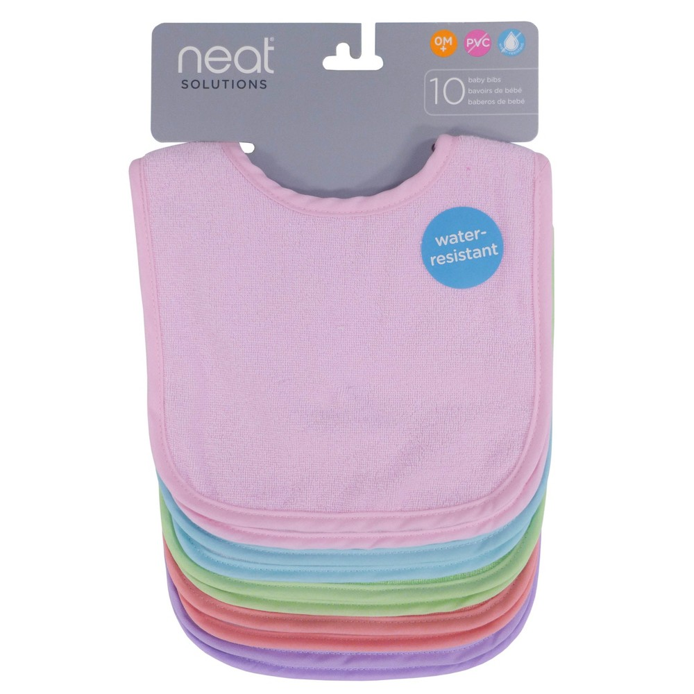 Image of Neat Solutions Bib Set - 10pk - Pastel, Pink