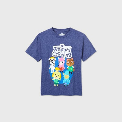 Boys' Nintendo Animal Crossing Short Sleeve T-Shirt - Blue
