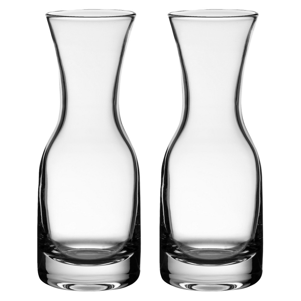 Image of 2ct Wine Carafes, Clear, Beverage Servers