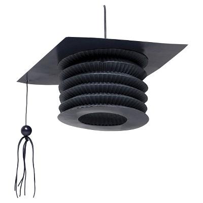 4ct Black Graduation Hat Shaped Lanterns