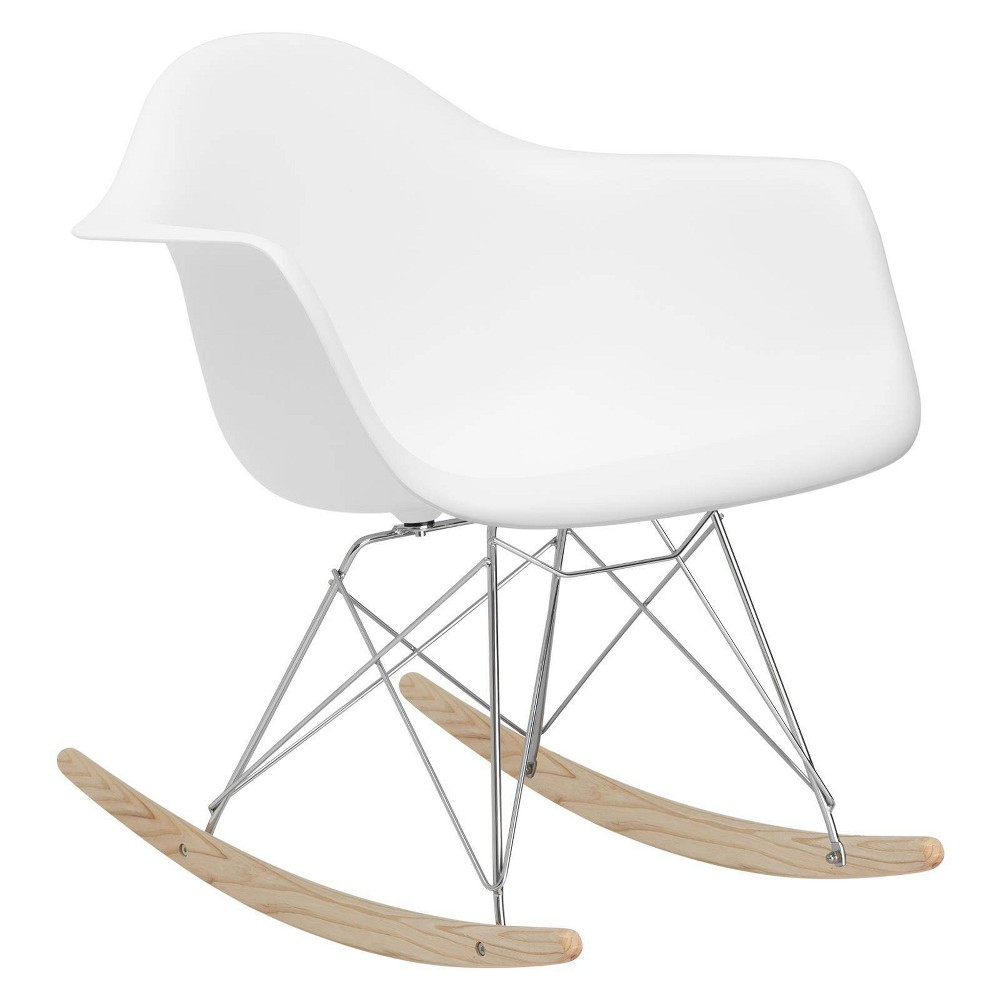 Image of Bianca Mid Century Lounge Chair White - Edgemod