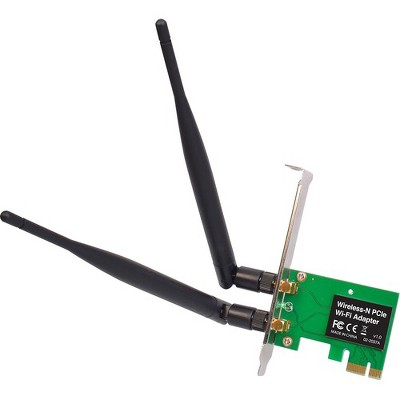 SIIG IEEE 802.11n - Wi-Fi Adapter for Desktop Computer - PCI Express - 300 Mbit/s - 2.40 GHz ISM - Internal