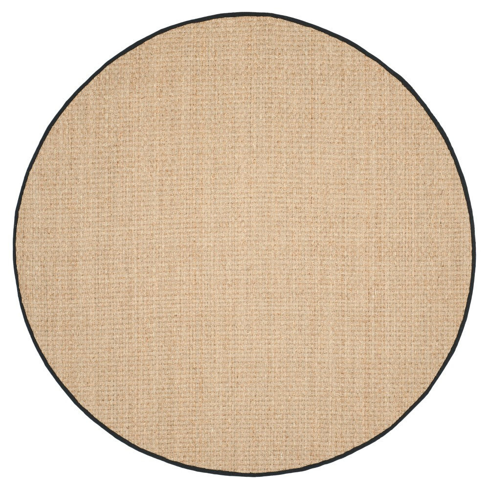 Natural Fiber Rug - Natural/Black - (8'x8' Round) - Safavieh