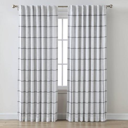 Blackout Window Curtain Panel Gray - Threshold™ - image 1 of 4