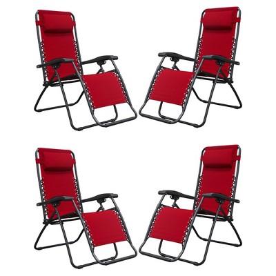 Caravan Canopy Sports Infinity Zero Gravity Steel Patio Deck Chair Red (4 Pack)  Target  sc 1 st  Target & Caravan Canopy Sports Infinity Zero Gravity Steel Patio Deck Chair ...