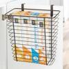 mDesign Hanging Over Cabinet Door Kitchen Storage Basket/Trash Can - image 3 of 4