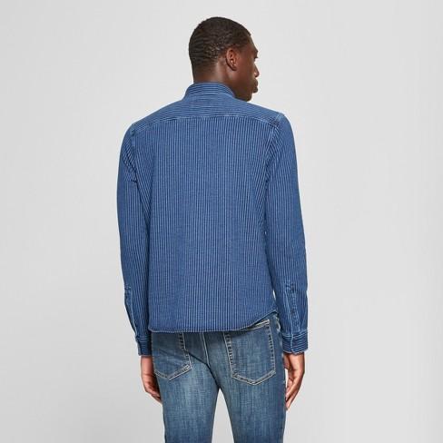 269e00962a Men s Long Sleeve 2-Pocket Denim Shirt - Goodfellow   Co™   Target