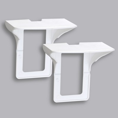Lakeside Electrical Outlet Plug Wall Shelves for the Bathroom and Kitchen - Set of 2