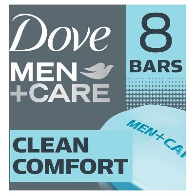 Dove Men+Care Clean Comfort Body and Face Bar - 4oz/8pk