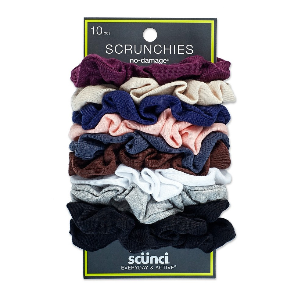 Scunci Everyday & Active No Damage Large Interlock Twister Scrunchies - 10pk, Multi-Colored