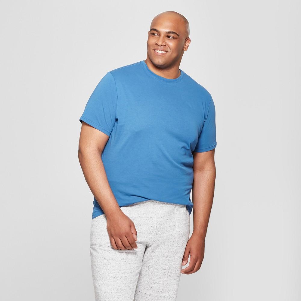 Men's Tall Crew Short Sleeve T-Shirt - Goodfellow & Co Riviera Blue LT