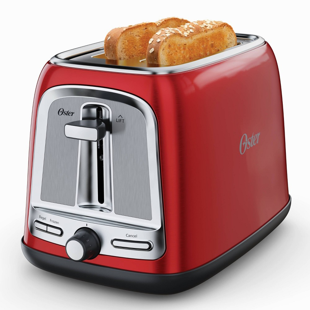 Oster 2 Slice Toaster With Advanced Toast Technology Candy Apple Red
