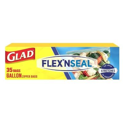 Glad Flex'N Seal + Food Storage Plastic Bags - 1 Gallon - 35ct