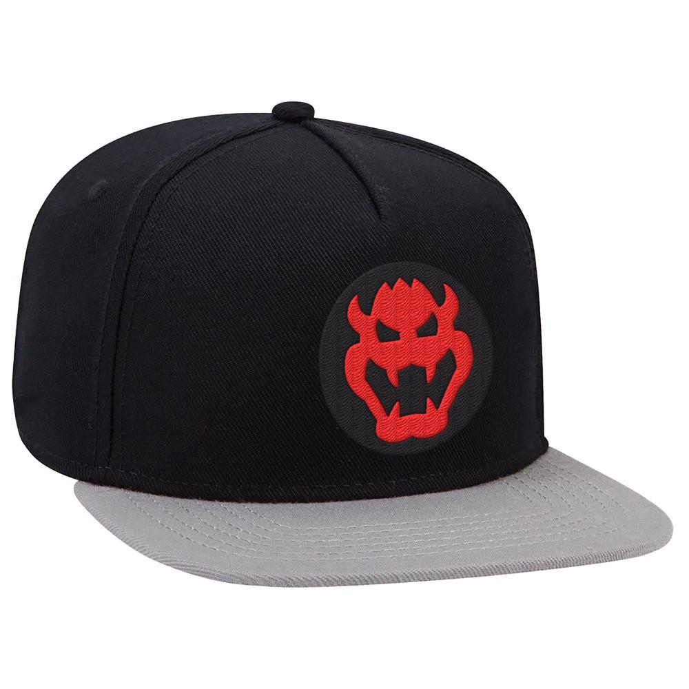 Nintendo Bowser Brimmed Hat - Black/Gray, Adult Unisex