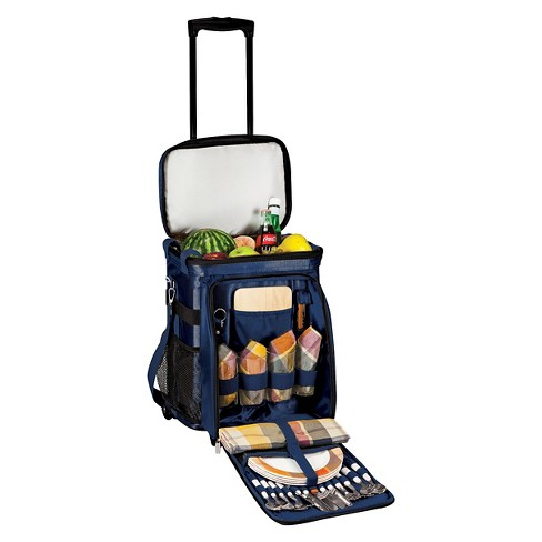 Picnic Time Avalanche Rolling Picnic Cooler - Navy - image 1 of 4