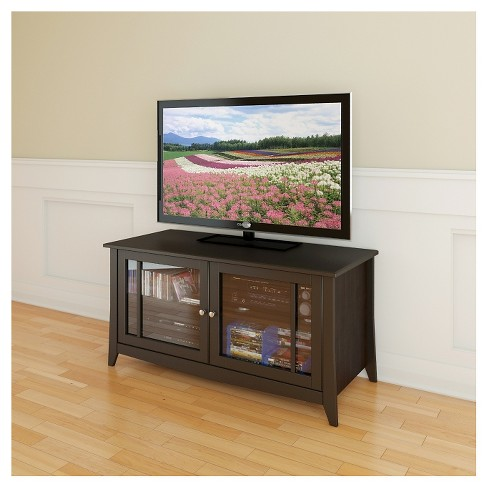 Elegance Entertainment Kit With Tv Stand And 2 Curio Cabinets 49 Espresso Nexera Target