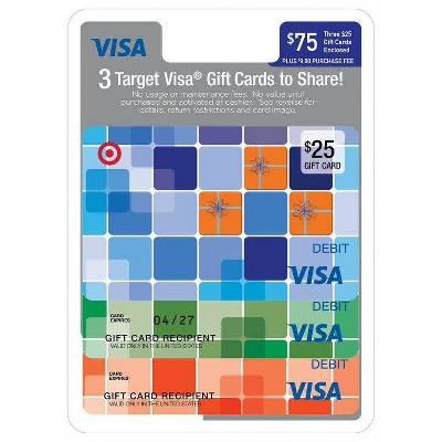 Visa Multipack - (3 $25 Gift Cards)+ $9 Fee