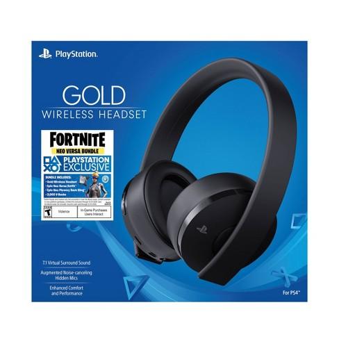 PlayStation Gold Wireless Gaming Headset: Fortnite Bundle - Black - image 1 of 4