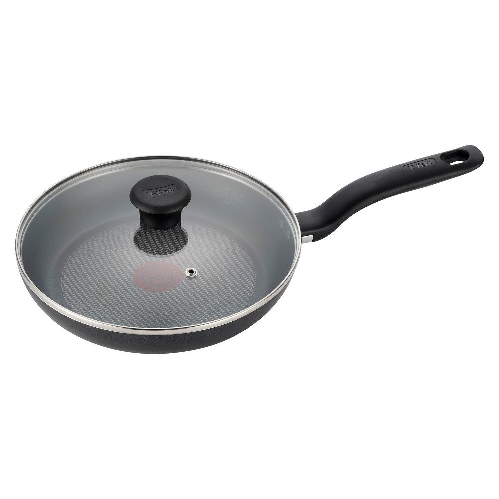 "Image of ""T-fal 10"""" Fry Pan with Lid Black"""