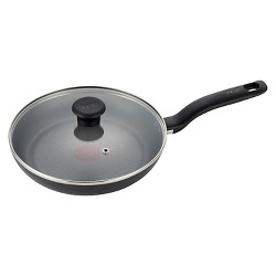 "T-fal 10"" Fry Pan with Lid Black"