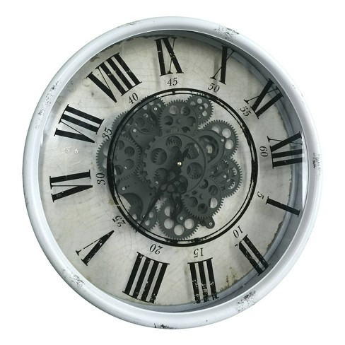 Vintage Gear Wall Clock White - A&B Home - image 1 of 1