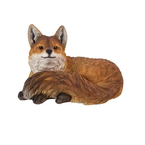 """10"""" Polyresin Laying Down Fox Statue White - Hi-Line Gift - image 1 of 1"""