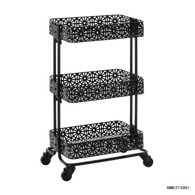 Metal Three Tier Cart - Linon