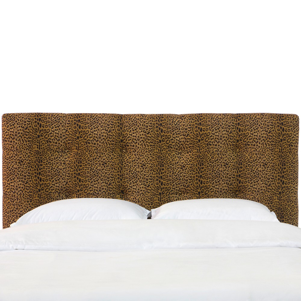Dolce Tufted Headboard - Queen - Cheetah Earth - Skyline Furniture