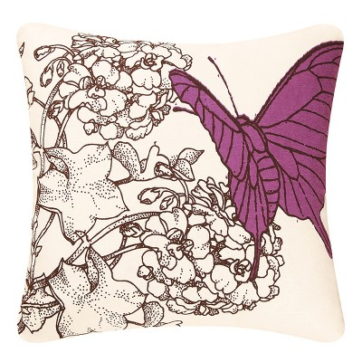 """C&F Home 18"""" x 18"""" Butterfly High Definition Pillow"""