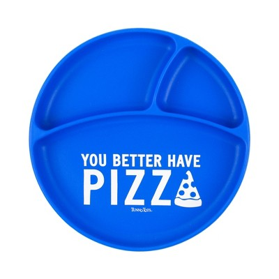Tunno Tots You Better Have Pizza Suction Plate - Blue