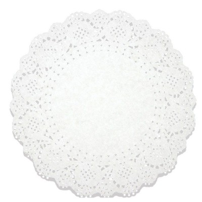 """Juvale 250 Pack White 10.5"""" Lace Doilies Paper Round Placemats, Cake Box Liners, Baked Treat Display"""
