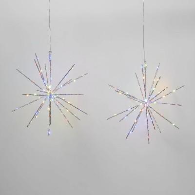 2pk Christmas LED Starburst Novelty 140 Lights Multicolor - Wondershop™