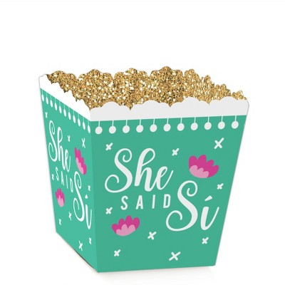 Big Dot of Happiness Final Fiesta - Party Mini Favor Boxes - Last Fiesta Bachelorette Party Treat Candy Boxes - Set of 12