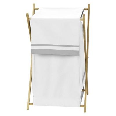 Sweet Jojo Designs White and Gray Hotel Laundry Hamper