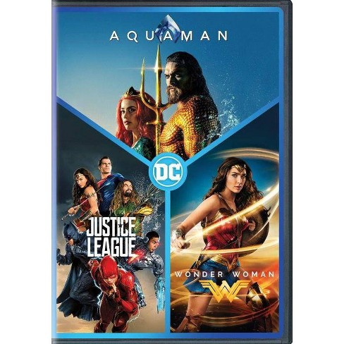 Dc 3 Film Collection Aquaman Justice League Wonder Woman Dvd 2019 Target