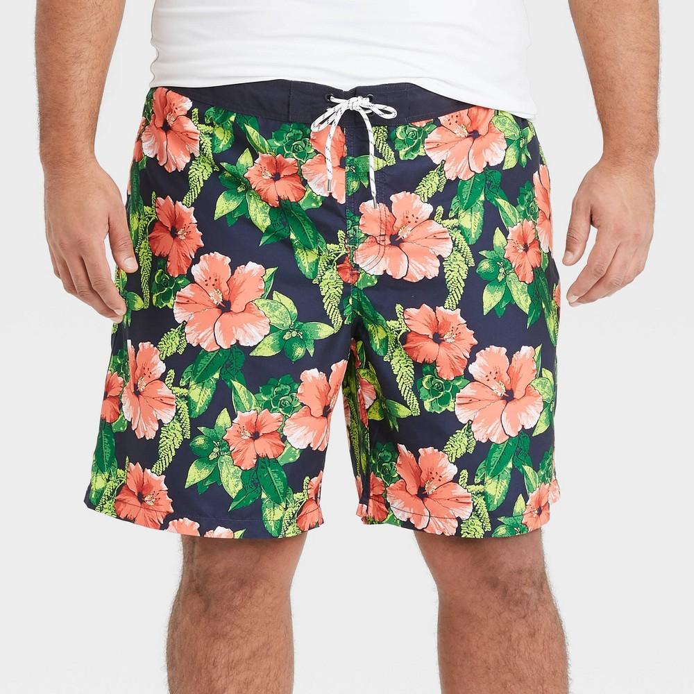Men 39 S Big 38 Tall 9 34 Floral Print Board Shorts Goodfellow 38 Co 8482 Black 5xl