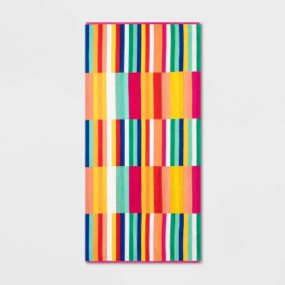 XL Broken Striped Beach Towel - Sun Squad™