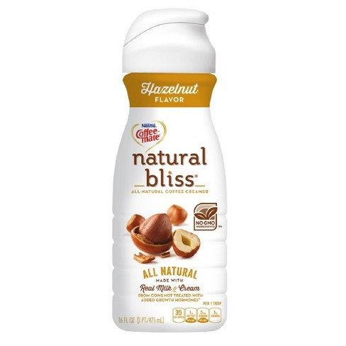Coffee-Mate Natural Bliss Hazelnut Coffee Creamer - 16oz - image 1 of 5