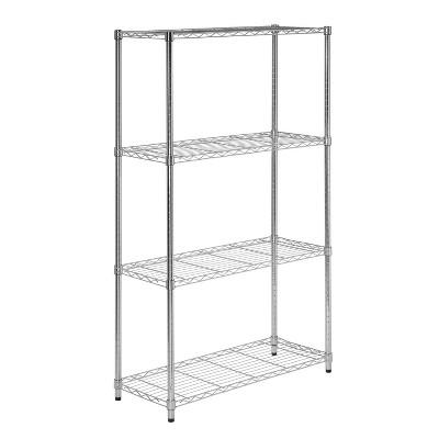 """Honey-Can-Do 36x14x59.25"""" 4 tier Storage Rack Silver"""