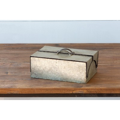 Park Hill Collection Galvanized Metal Keepsake Box