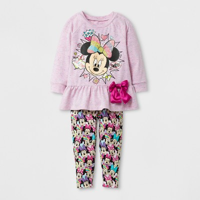 dbd185fa Toddler Girls' Minnie Mouse Top And Bottom Set – Disney® Pink 4T ...