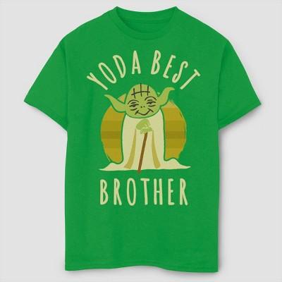 Boys' Star Wars Best Brother Yoda T-Shirt - Green