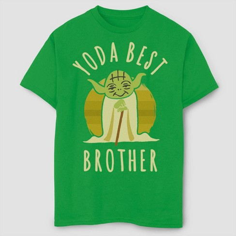 Boys' Star Wars Best Brother Yoda T-Shirt - Green XS - image 1 of 2